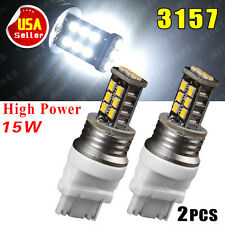 2X Super White 3157 15W High Power LED Tail Brake Stop Light Bulbs 3157A 3156 US