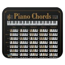 Piano Chords Music Low Profile Thin Mouse Pad Mousepad