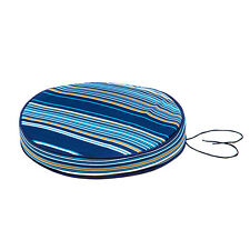 """Multi Stripe Oasis Piped Round 15"""" Garden Bistro Chair Seat Pad Cushion Outdoor"""