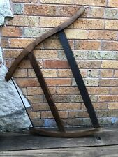 Vintage OVB Our Very Best Brand Crosscut Buck Bow Saw Rustic Tool Art