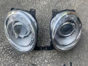 2012-2016 Fiat 500 Two Door Headlights Right and Left Pair Halogen OEM