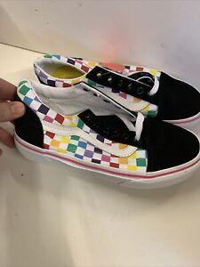 vans rainbow Checkerboard Uk 2