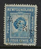 Newfoundland Perfin A11-AYRE (St. John's, NF) Scott 116, 3c brown Monument RF: F
