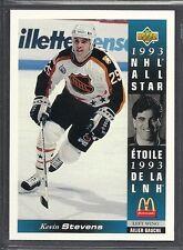 1993-94 Upper Deck McDonald's NHL All Stars - #25 - Kevin Stevens - Penguins