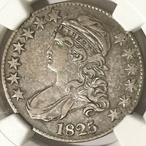 1825 Capped Bust Half Dollar NGC VF35 Beautifully Struck, Problem Free, Looks XF
