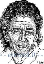 Peter Maffay Tuschezeichnung, Portrait, Unikat