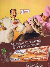 PUBLICITE ADVERTISING 035 1980 BAHLSEN la noisette au biscuit Kipferl