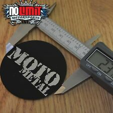 BLACK MOTO METAL 970 CENTER CAP  LOGO  DECAL STICKER 1-3 FREE SHIPPING set of 2