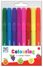 Anker Scented Marker Pens 8 Pack - Ideal for School, Home, Office, Colouring