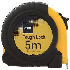 Coral Tough Lock Pocket Tape Measure Retracting Metric Rule Steel Belt 5m long
