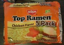 Nissin Top Ramen Noodle Soup Chicken Flavor 3 OZ (PACKAGE HAS 5) NO ADDED MSG