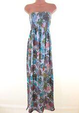 BNWT NEXT bandeau strapless boho paisley floral maxi beach dress size 6 euro 34