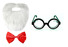 World Book Day Mr Twit Fancy Dress Beard Bow Tie Glasses Costume Set