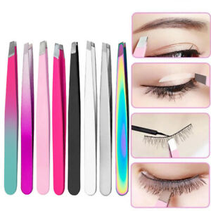 Professional Stainless Steel Eyebrow Tweezers for Shaving and Hair Removal Tools