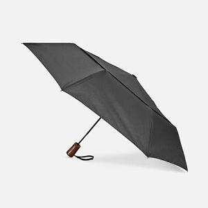 $98 Shedrain Windpro Black Wooden Handle Auto Open Close Rain Vented Umbrella