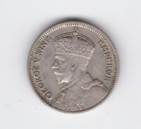 1933 6P Sixpence Silver New Zealand NZ Coin showing 8 pearls P-508