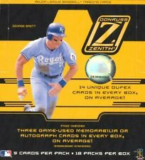 2005 Zenith Baseball Cards - Complete Your Set