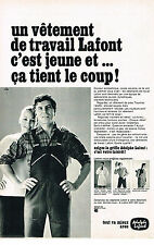 PUBLICITE ADVERTISING 014   1968  ADOLPHE LAFONT  vetement de travail