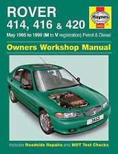 Haynes Manuel Rover 414,416 & 420 peut 95 - 98 m à R Reg essence et diesel