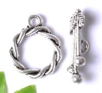 10sets Tibetan Silver Toggle nice Clasps 16MM JK0782