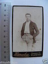 OLD CDV L PHOTO By Beverley Church Street Blackpool Young Man 0L0011
