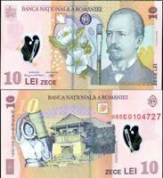ROMANIA 10 LEI 2008/2010 POLYMER P 119 UNC