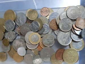1.5kg Mix of Unsorted World Coins - France Canada Germany Barbados Italy etc (b)