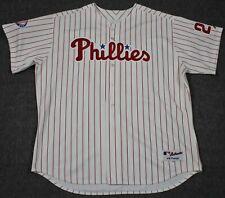 Jim Thome Philadelphia Phillies 2004 Majestic MLB Authentic Sewn Jersey Size 60