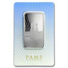 Lingot Suisse PAMP 1 Once argent pur 999 / KA' BAH MECCA 1 Oz Fine Silver Bar