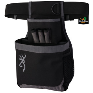 NEW BROWNING FLASH SHELL POUCH CARRIER BLACK GRAY BUCKMARK LOGO
