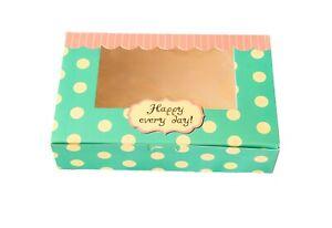 Bakery Box.Cupcake Box.Cake,Cookies Macaron,Gift Box  ( pack of 12)