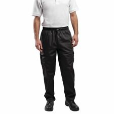 Le Chef Combat Pants Unisex Men Trousers Long Bottoms Workwear Kitchen Black M De25b-m
