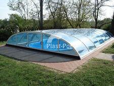 Gfk Schwimmbecken 800x320x150 mit Überdachung Pool Poolhalle Gartenpool