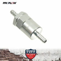 "Proflow Competition Billet Reusable Fuel Filter Silver 3/8"" Barb 30 Micron New"