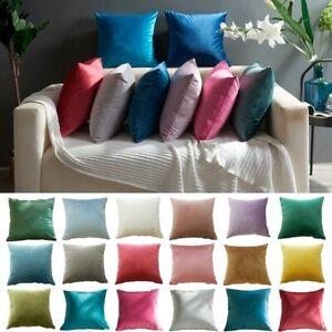 Velvet Sofa Waist Throw Cushion Case 45x45cm