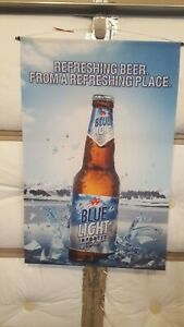 Labatt Blue Light Beer Fabric Hanging Banner