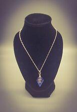 SHUNGITE ORGONE ENERGY PENDANT Crystal Gem Elixir Herkimer Diamond Necklace EMF