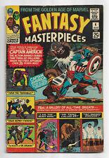 Fantasy Masterpieces # 4 Marvel Comics 1966 Simon & Kirby art Captain America