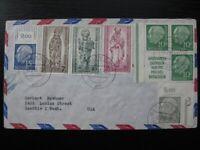 GERMANY 1956 very nice cover w/ Heuss block of 4 & Berlin stamp set!