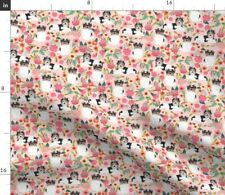 Pink Florals Biewer Biewer Toy Dog Dog Breed Spoonflower Fabric by the Yard