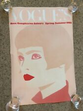Normal size Wall Poster -VOGUE 1983 Vintage Promotional ROSE COMPLEXTION COLOURS