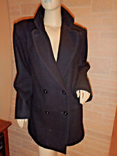 Donnybrook Black Wool Double Breasted Peacoat Womens Sz 12 Dress Coat Jacket