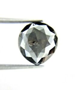 Greyis Black Pear Rose cut Natural Diamond 5.62TCW for Engagement Gift Low Price