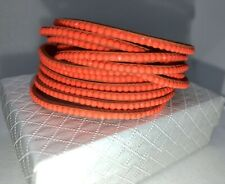 Slake Crystal Wrap Bracelet made w/ Swarovski Crystal Orange Alcantara ® Leather