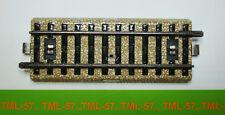Voie MARKLIN M HO - Rail Droit standard 1/2 - 5107 - Lot de 4