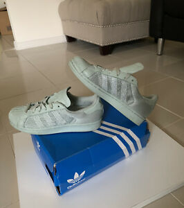 Adidas Superstar Triple Mint Green - US 5 UK 4.5 Sneakers - WORN TWICE