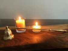 Candle Snuffer Brass Embellished with Brass Handle