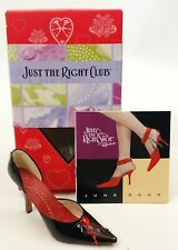 Just The Right Shoe Just The Right Club Jeweled Heart Shoe # 25235 Nib