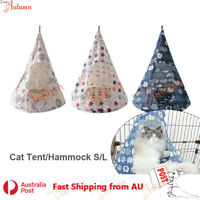 Pet Cat Tent Cone Hammock With Thick Mat Warm Cotton Cage Hanging Bed Toy Swing