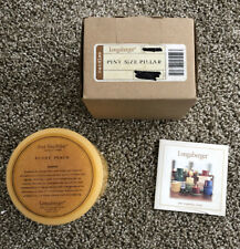 New Longaberger Pint Size Pillar Sunny Peach Yellow Candle. New In Box